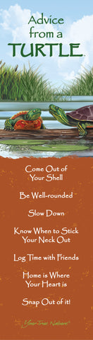 Advice from a Turtle Laminated Bookmark