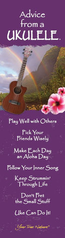 Advice from a Ukulele Laminated Bookmark
