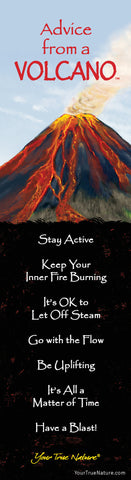 Advice from a Volcano Laminated Bookmark