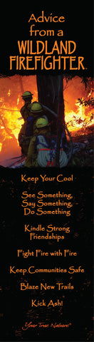 Advice from a Wildland Firefighter Laminated Bookmark