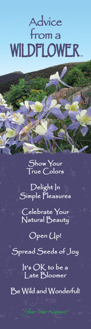 Advice from a Wildflower - Columbine Laminated Bookmark
