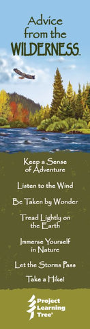 Advice from the Wilderness- Project Learning Tree- Laminated Bookmark