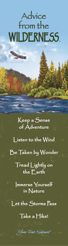 Advice from the Wilderness Laminated Bookmark