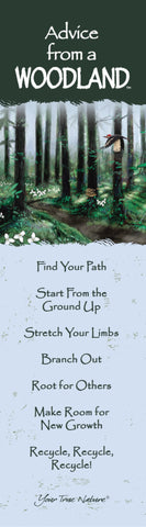 Advice from a Woodland Laminated Bookmark
