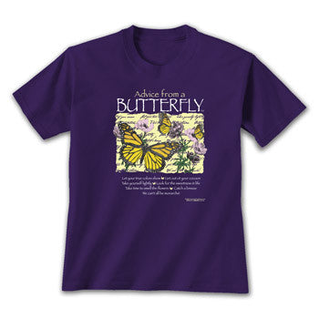 Advice from a Butterfly T-Shirt - Ladies Cut