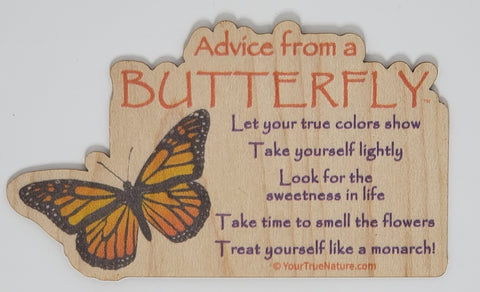 Advice from a Butterfly - Wood Sticker