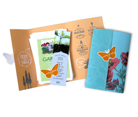 Cheerful Gardens Greeting Card Package