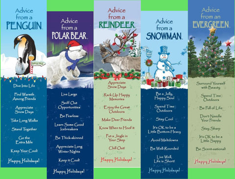 Advice from Christmas - Unlaminated Bookmark Set