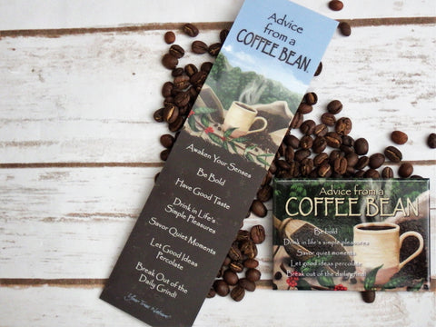 Advice from a Coffee Bean Laminated Bookmark