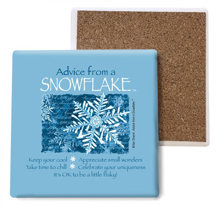 Advice from a Snowflake Coaster Set
