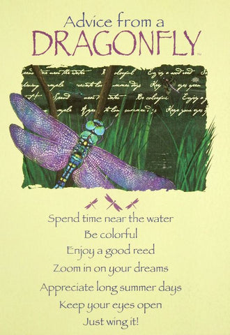 Advice from a Dragonfly Greeting Card - Birthday