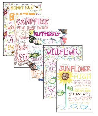 Advice from Nature Greeting Card Set - Special Artist Designed (Blank 12 pack)