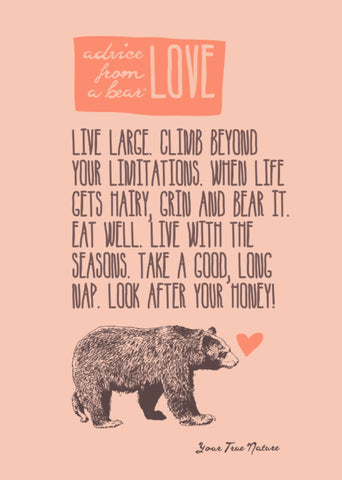 Advice from a Bear-Love-Greeting Card - Blank