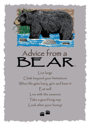 Advice from a Bear Greeting Card - Blank