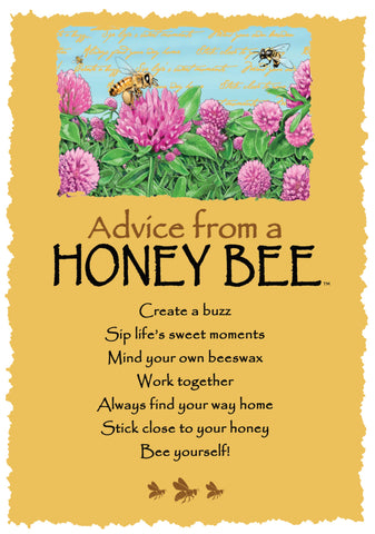Advice from a Honey Bee Greeting Card - Blank