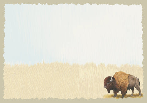 Advice from a Bison Greeting Card - Blank