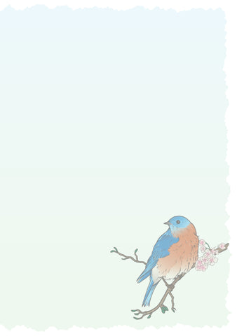 Advice from a Bluebird Greeting Card - Blank
