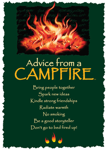 Advice from a Campfire Greeting Card - Blank
