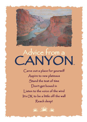 Advice from a Canyon Greeting Card - Blank