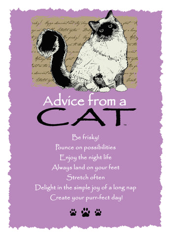 Advice from a Cat Greeting Card - Blank