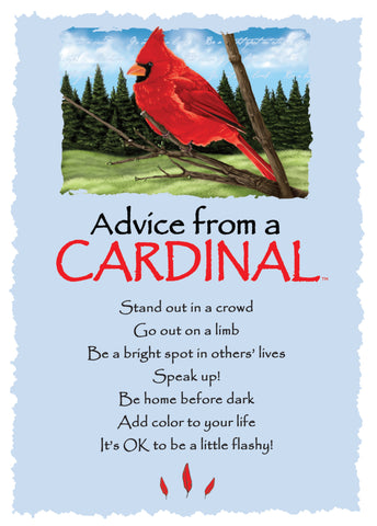 Advice from a Cardinal Greeting Card - Blank