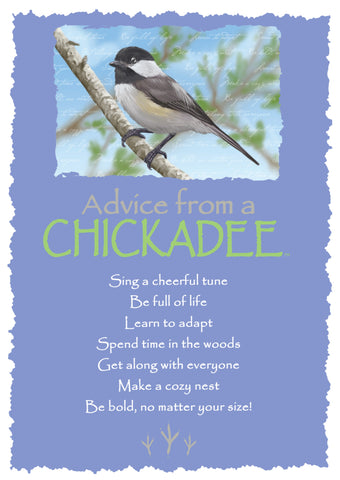 Advice from a Chickadee Greeting Card - Blank
