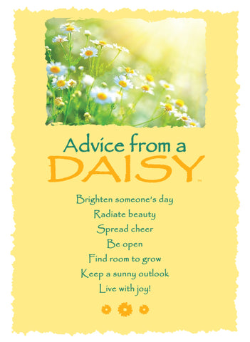 Advice from a Daisy Greeting Card - Blank