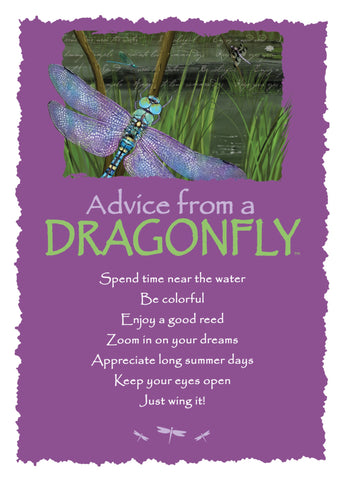 Advice from a Dragonfly Greeting Card - Blank