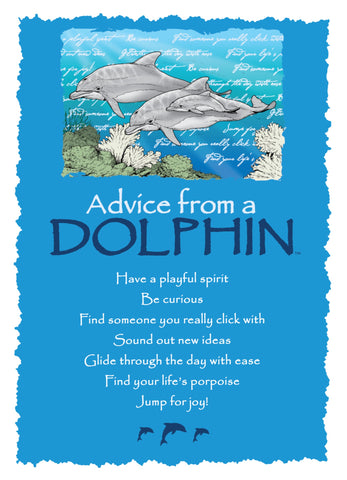 Advice from a Dolphin Greeting Card - Blank