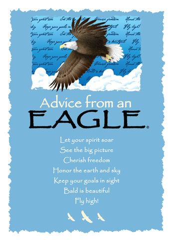 Advice from an Eagle Greeting Card - Blank