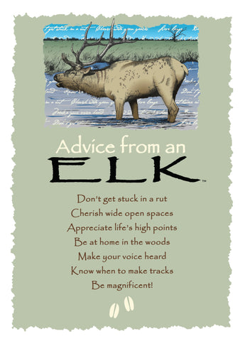 Advice from an Elk Greeting Card - Blank