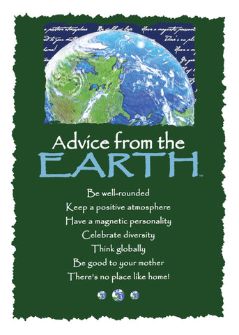 Advice from the Earth Greeting Card - Blank