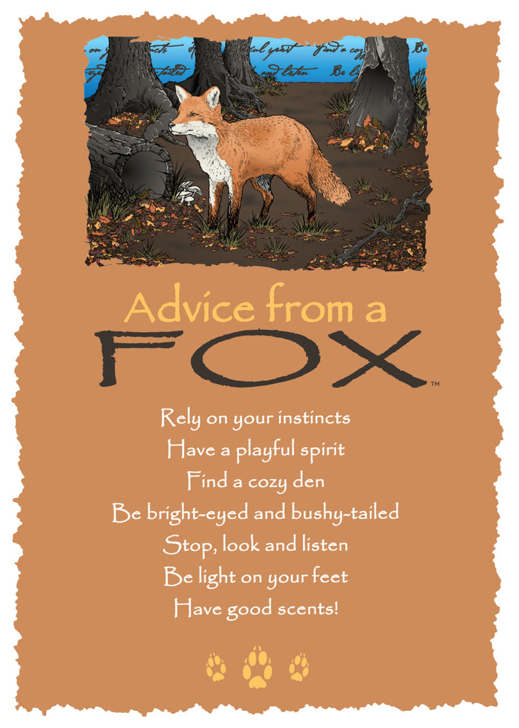 The Wholesale House >> Advice from a Fox Greeting Card - Blank – Your True Nature Inc
