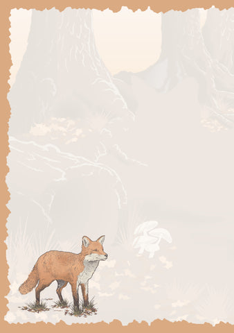 Advice from a Fox Greeting Card - Blank