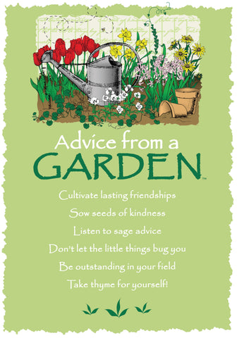 Advice from a Garden Greeting Card - Blank