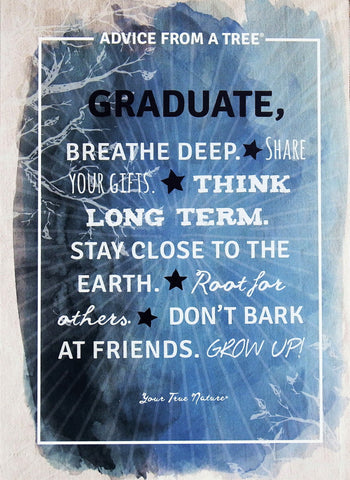 Advice from a Tree - Graduate Note Card