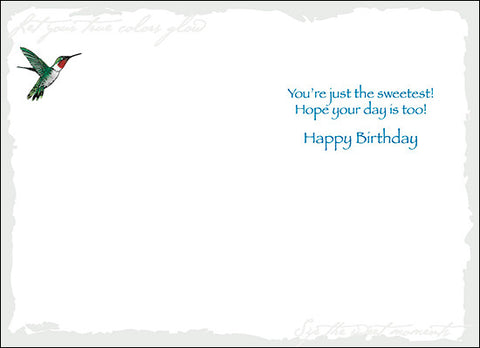 Advice from a Hummingbird Greeting Card - Birthday