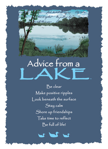 Advice from a Lake Greeting Card - Blank