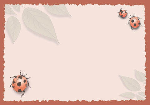 Advice from a Ladybug Greeting Card - Blank