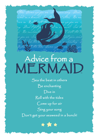 Advice from a Mermaid Greeting Card - Blank
