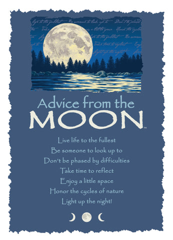 Advice from the Moon Greeting Card - Blank