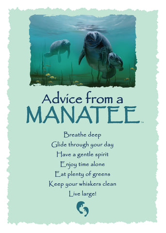 Advice from a Manatee Greeting Card - Blank