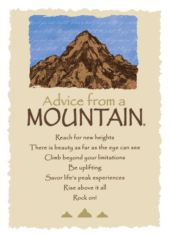 Advice from a Mountain Greeting Card - Blank