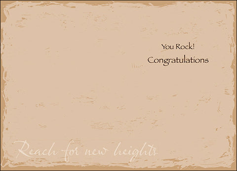 Advice from a Mountain Greeting Card - Congratulations