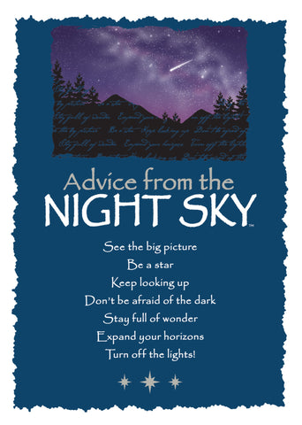 Advice from the Night Sky Greeting Card - Blank