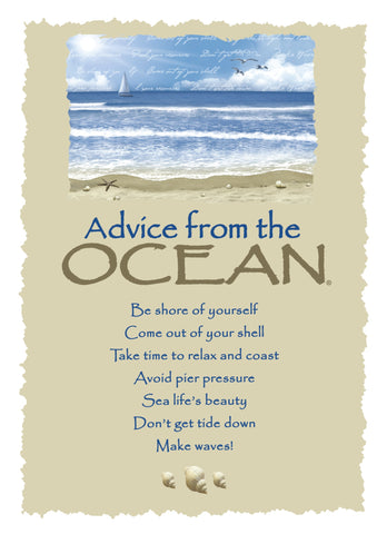 Advice from the Ocean Greeting Card - Blank