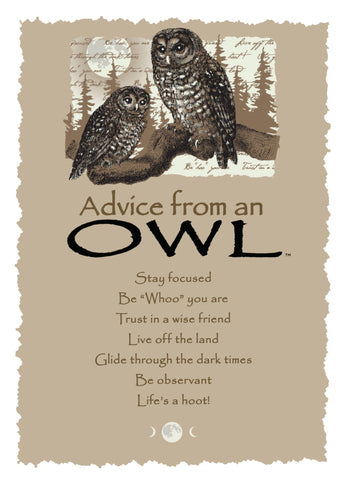 Advice from an Owl Greeting Card - Blank