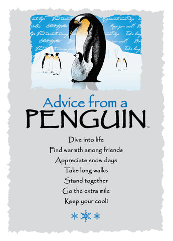 Advice from a Penguin Greeting Card - Blank