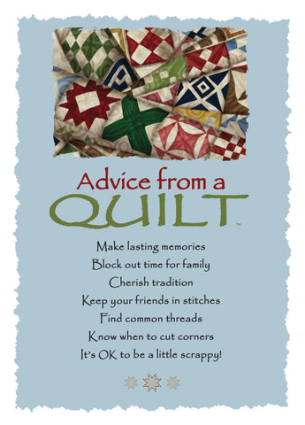 Advice from a Quilt Greeting Card - Blank