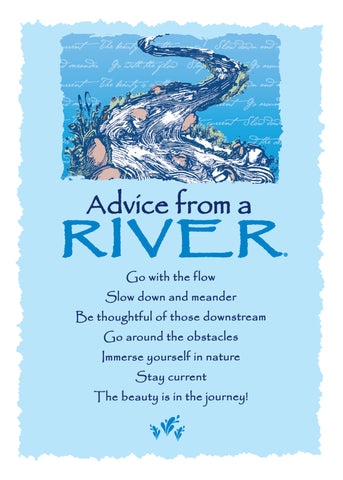 Advice from a River Greeting Card - Blank
